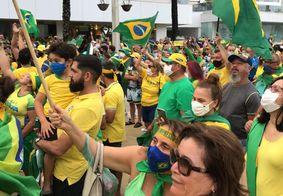 Manifetantes em apoio a Bolsonaro