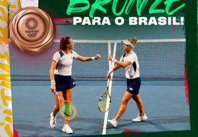 Luisa Stefani e Laura Pigossi conquistam primeira medalha olímpica do Brasil no tênis