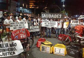Caso Kelton Marques: motoboys fazem novo protesto em João Pessoa