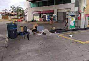 Caminhão de lixo é usado mais uma vez para roubar posto em JP