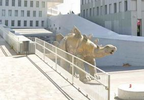 Homem desaparecido tem corpo encontrado dentro de estátua de dinossauro
