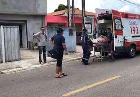Funcionário cai de andaime a uma altura de 2 metros, em João Pessoa