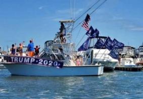 Comício de Trump em lago no Texas termina com naufrágio de quatro barcos