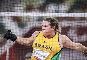 A atleta paulistaquebrouduas vezes o própriorecorde mundial na modalidade