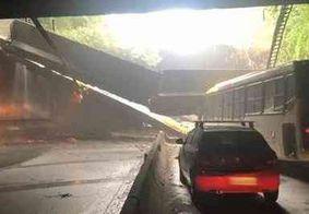 Túnel cuja estrutura desabou em ônibus é liberado no Rio de Janeiro