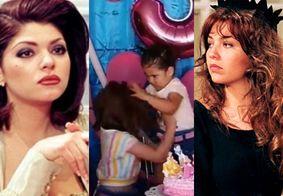 Briga de irmãs em festa é reproduzida por Thalia e atriz que viveu Soraya em 'Maria do Bairro''; confira