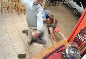Vídeo: motoboy reage a ameaças e nocauteia dois homens em Minas Gerais