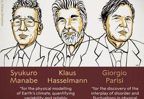 Syukuro Manabe,Klauss Hasselman e Giorgio Parisi venceram a premiação