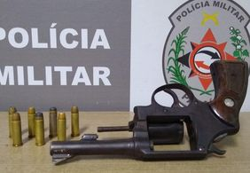 PM prende jovem de 18 anos por porte ilegal de arma de fogo na capital