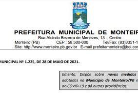 Monteiro decreta lockdown e toque de recolher