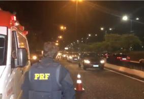 Motorista perde controle do carro e entra em surto com a chegada da PRF, em João Pessoa