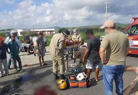 Homem morre em acidente grave entre duas motos na Paraíba