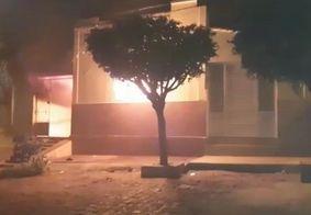 Local onde aconteceu incêndio na noite deste sábado (24), em Cajazeiras