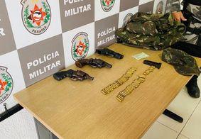 Suspeitos de atuarem como seguranças do tráfico são presos com armas e munições em João Pessoa