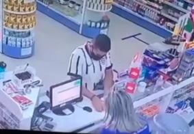 PM captura homem que aparece em vídeo assaltando farmácia, em João Pessoa; veja