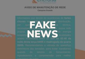 Fake news é divulgada nas redes sociais