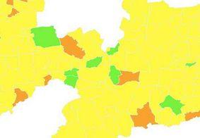 Levantamento mostra que 182 cidades da PB estão na bandeira amarela; saiba o que significa