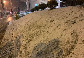 Cidades do Rio Grande do Sul registram neve nesta quarta-feira