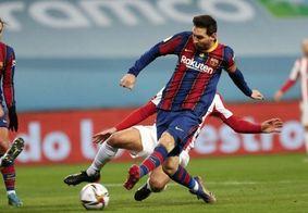 Messi estava a caminho das férias, na Espanha.