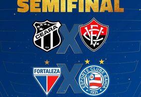 Semifinalistas da Copa do Nordeste