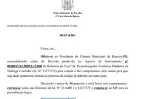 Bayeux: Justiça determina realização de eleições indiretas em 48 horas