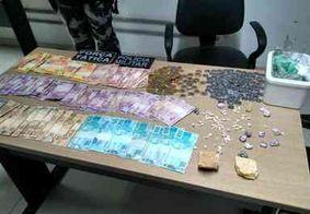 Suspeito de tráfico é preso com mais de R$ 2 mil em espécie e drogas em João Pessoa