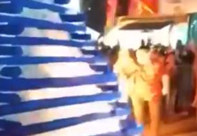 Vídeo: veja o momento em que fogueira explode deixando prefeito e primeira-dama feridos