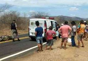 Acidente entre moto e ambulância deixa vítima fatal no interior da PB