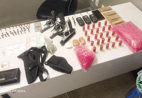 Casal é preso com armas e drogas durante operação em CG