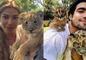 Luisa Mell critica Grazi e Caio Castro por fotos com animais selvagens e ganha apoio de Anitta