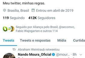 Ministro da Educação compartilha mensagem que diz que Bolsonaro traiu Moro e o povo