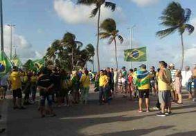 Grupo de manifestantes se reúne em João Pessoa para apoiar CPI 'Lava Toga'
