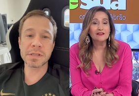 """Tiago Leifert desmente colunista de Sônia Abrão sobre saída do BBB: """"Não aconteceu"""""""