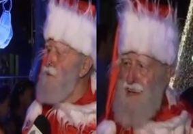 Papai Noel perde a paciência, dá resposta em repórter e vídeo bomba na web; veja