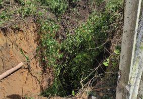 Seinfra identifica novo rompimento próximo à cratera na Pedro II