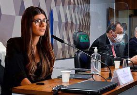 Citada na CPI da Covid, atriz pornô publica montagem no Senado