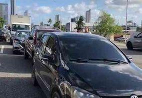 Vídeo: engavetamento com quatro veículos deixa trânsito lento na BR-230