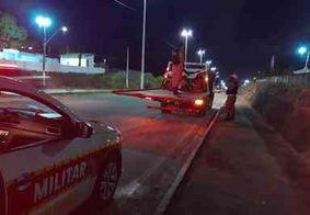 Homem fica ferido após ser atropelado por motocicleta na Grande João Pessoa