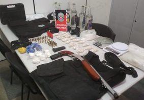 PM apreende arma, munições e material de tráfico, na Grande João Pessoa