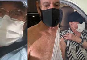 Ney Matogrosso, Raul Gil e Roberto Carlos são vacinados contra a Covid-19