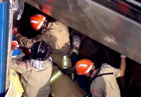 Após mais de 7 horas, maquinista que estava preso às ferragens é resgatado