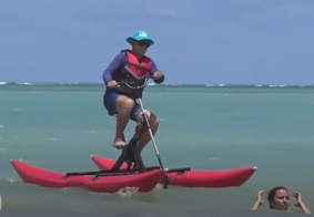 Bike aquática é opção de lazer no Litoral paraibano
