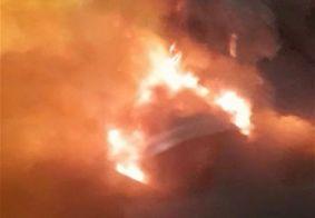Incêndio na garagem da São Jorge