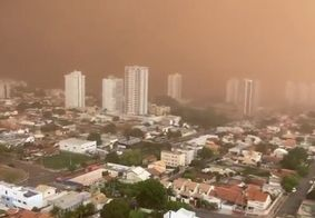 Tempestade de areia em Campo Grande