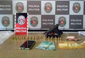 Homem é preso com arma, munições e embalagens de drogas em João Pessoa