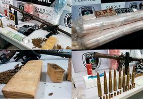 Operação policial resulta em um preso, dois mortos e arsenal de guerra apreendido na PB